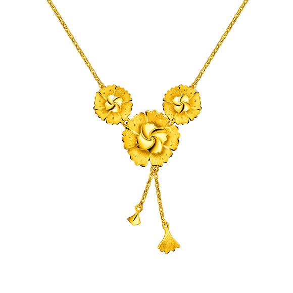 """Beloved Collection""""Beloved Blossom""""Gold Necklace"""