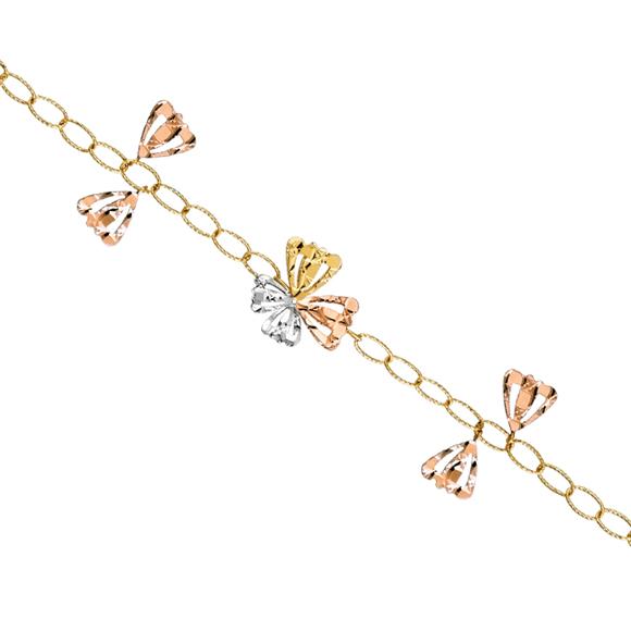 18K金「舞蝶」手链