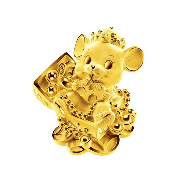 福鼠臨門系列進寶金鼠黃金擺件