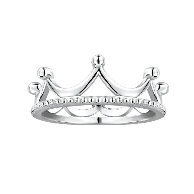 Pt「宝贝亲爱」系列「闪耀.皇冠」戒指