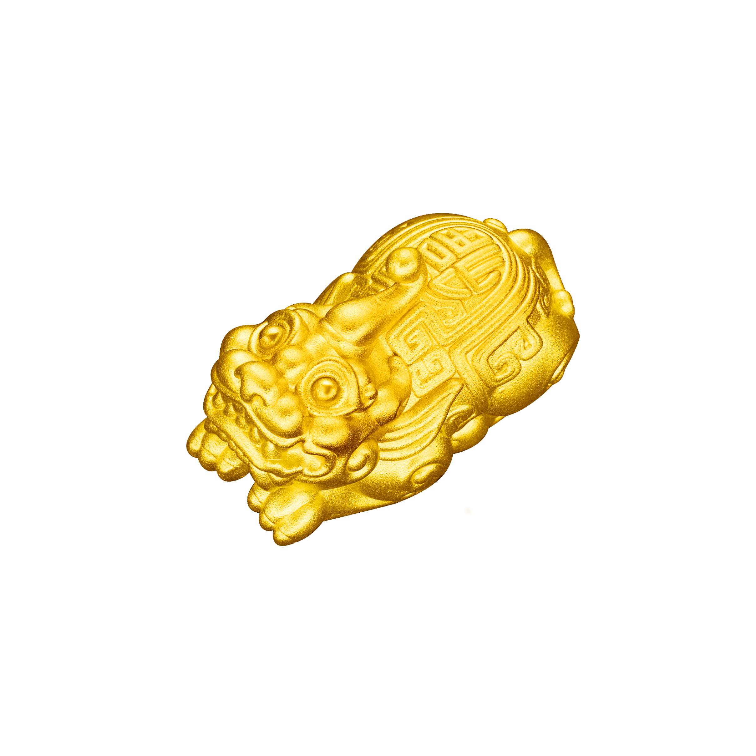 Antique Gold「旺福」Gold Pendant