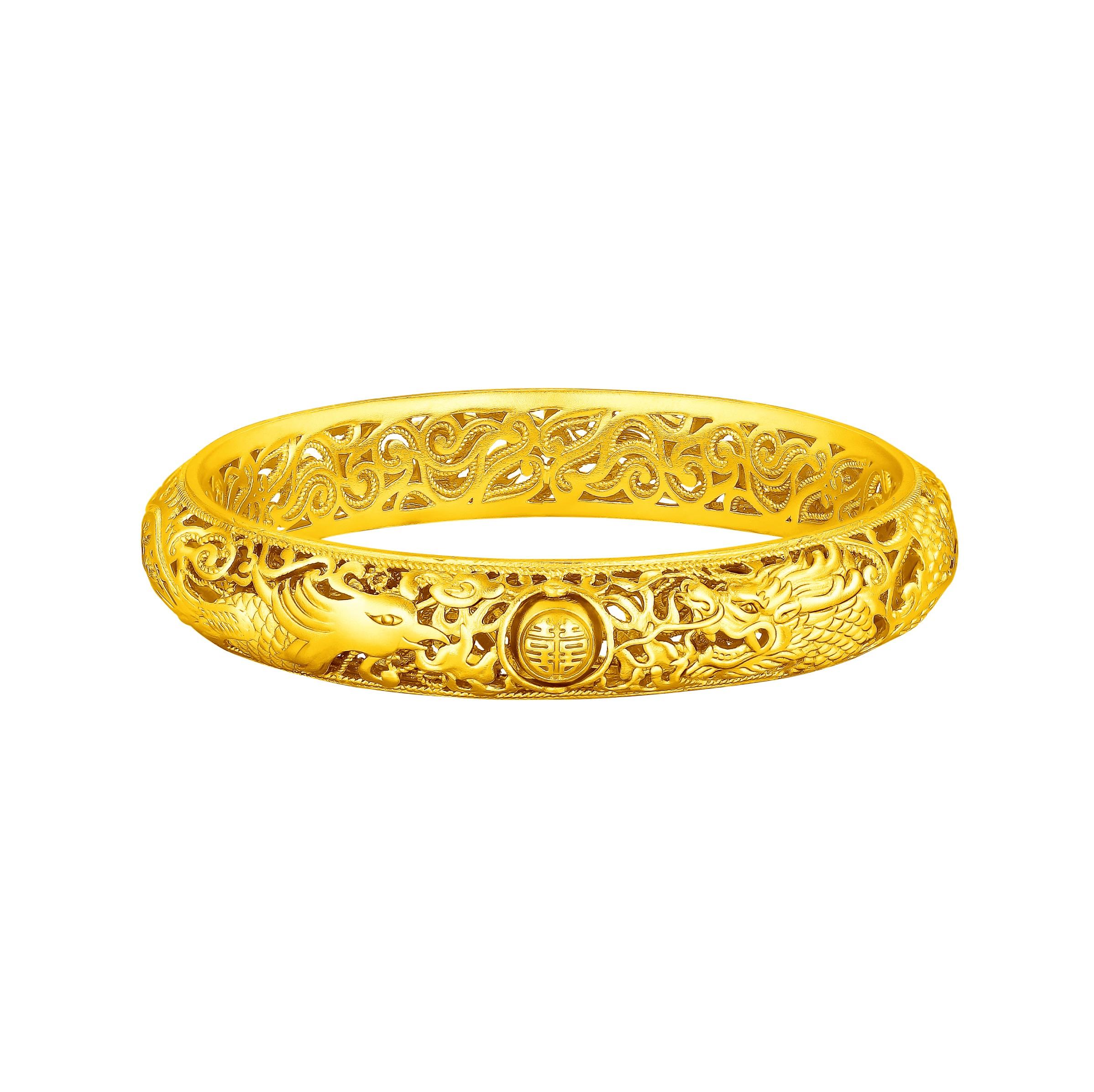 Antique Gold「慶福」Gold Bracelet