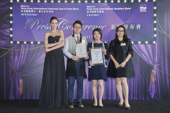 鍾惠冰小姐及得奬設計師謝嘉榮先生