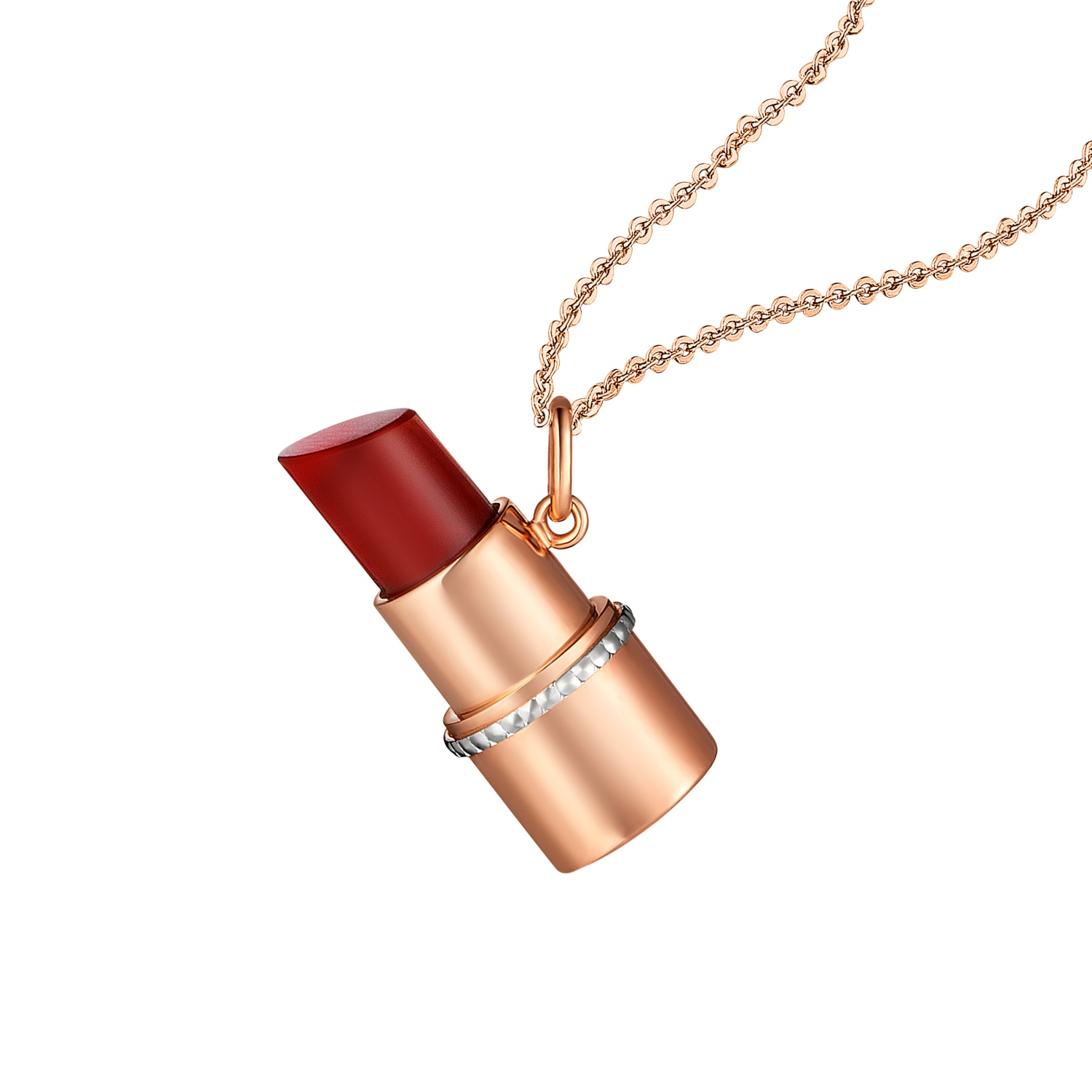 Hot items Red lipstick 18K Gold Necklace