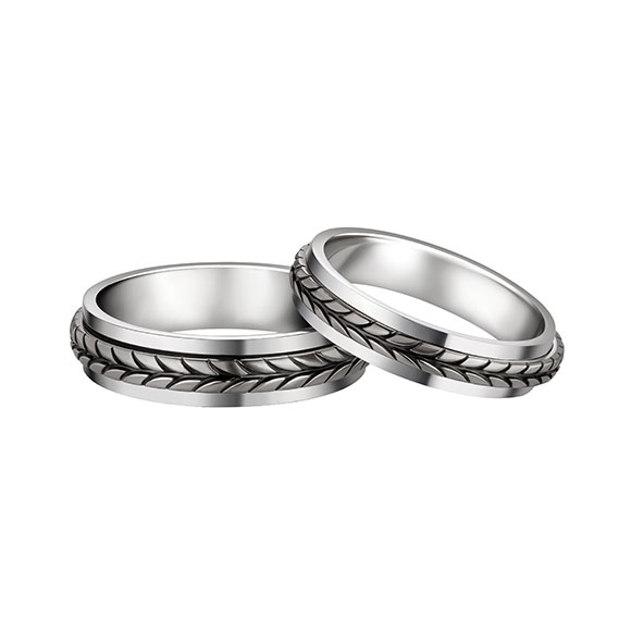 F-style Pt in Style Platinum Rings