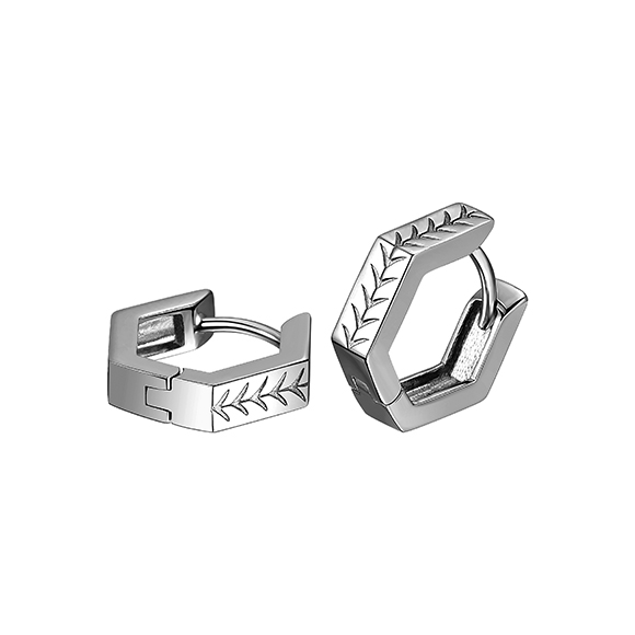F-style Pt in Style Platinum Earrings