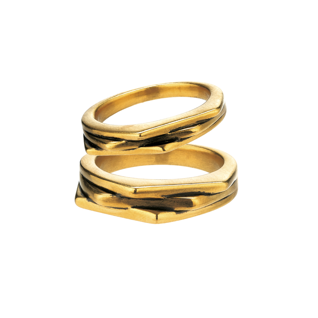 F-style Hey Cool Gold Couple Rings