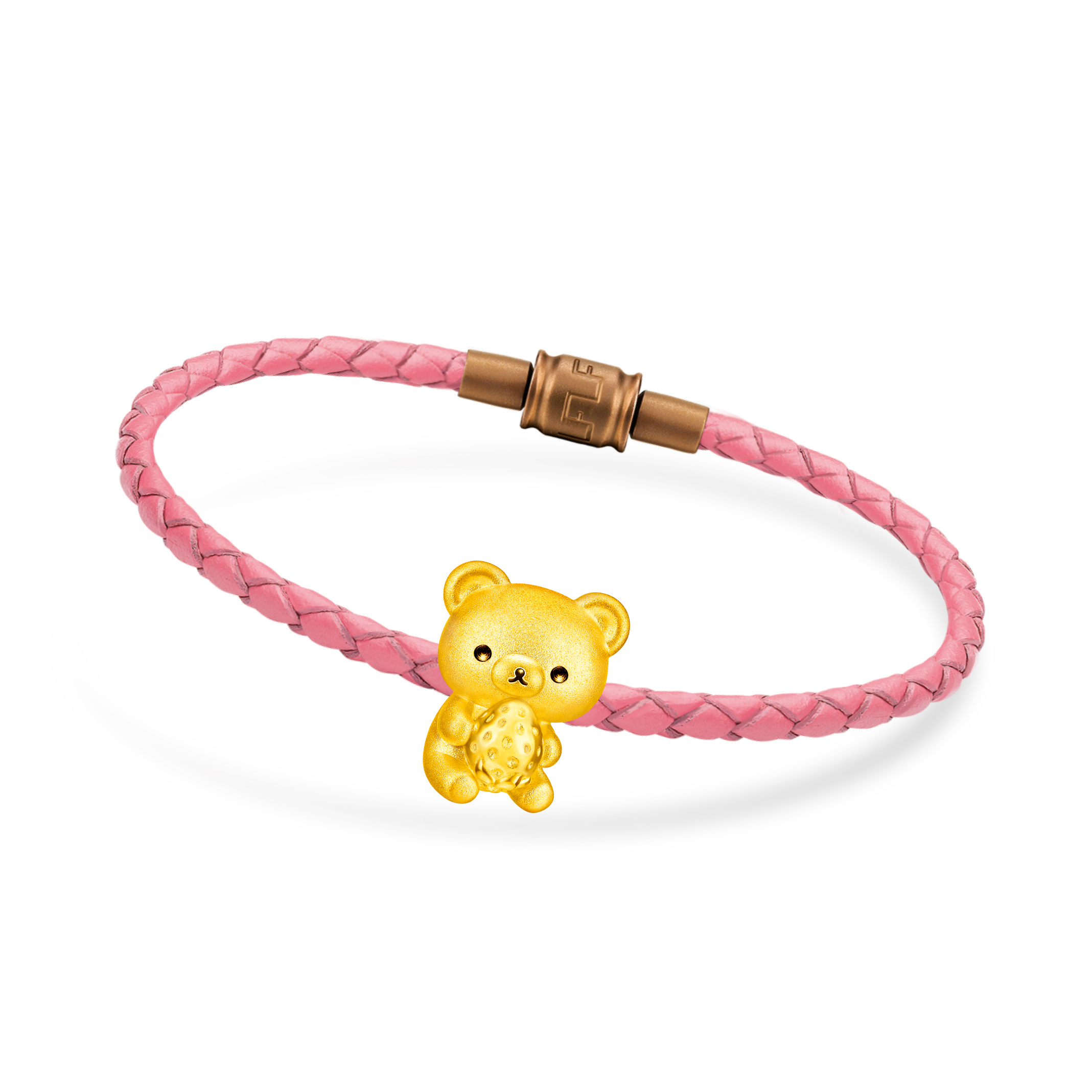 Rilakkuma™ Collection Chairoikoguma & Strawberry Three-dimensional Gold Charm