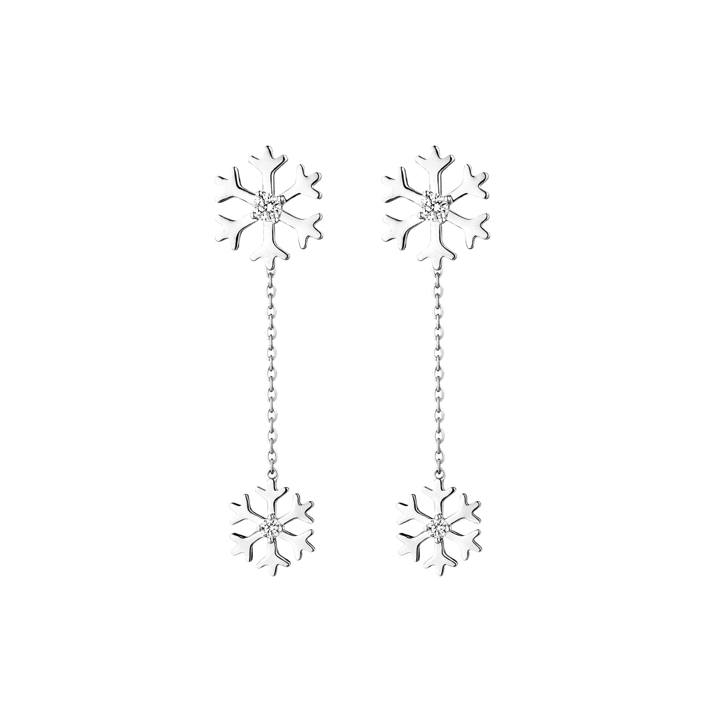 """Dear Q""""Love of Snowy"""" Earrings"""
