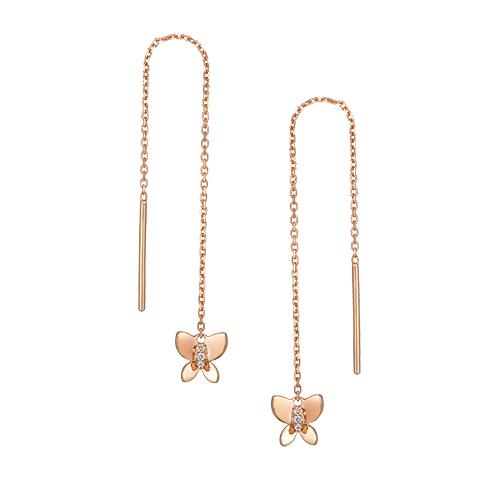Dear Q Romantic Spring Butterfly Earrings