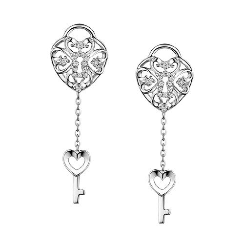 Dear Q Be My Valentine Love Key Earrings