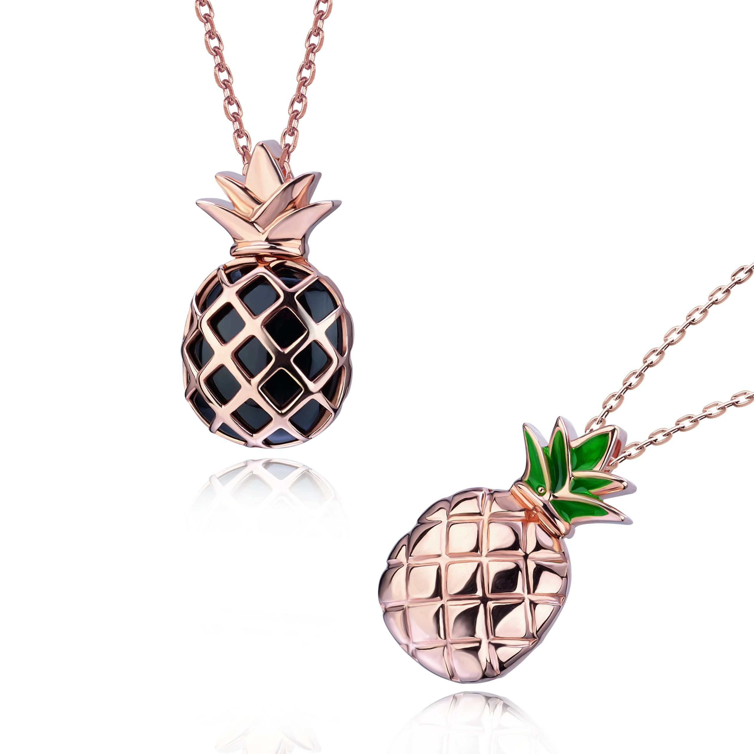 "Hot items ""Black Pineapple"" 18K Gold Necklace"