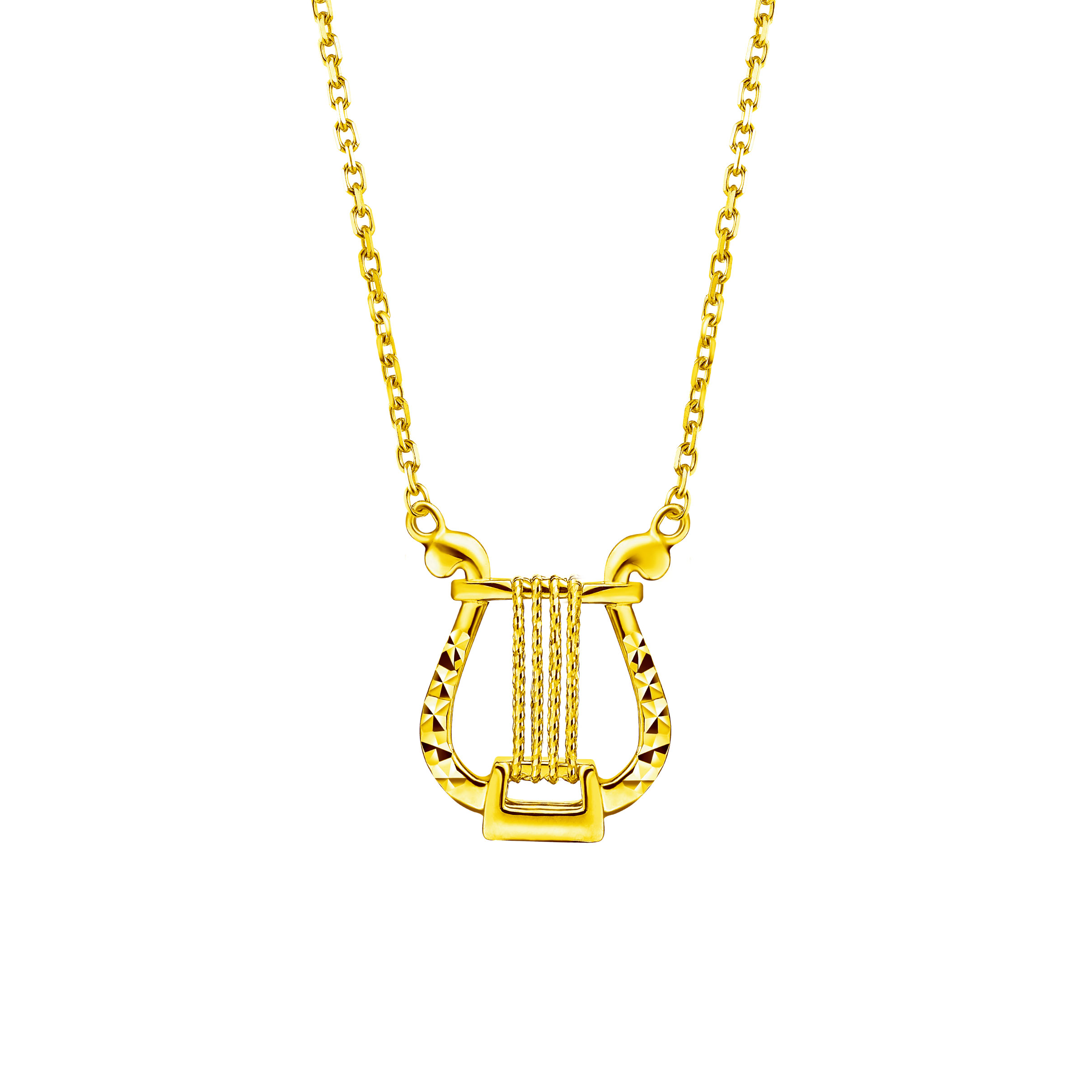 Goldstyle Beautiful Lyre Necklace