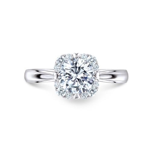 爱很美系列18K金(白色)钻石戒指