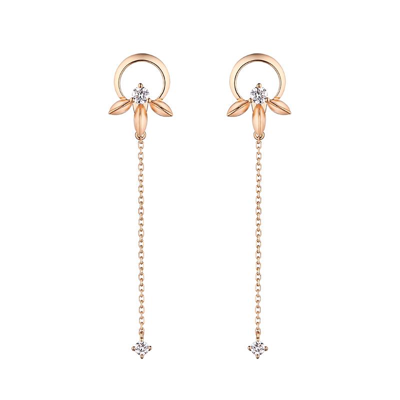 Hot items 18K Gold Good Luck Earrings