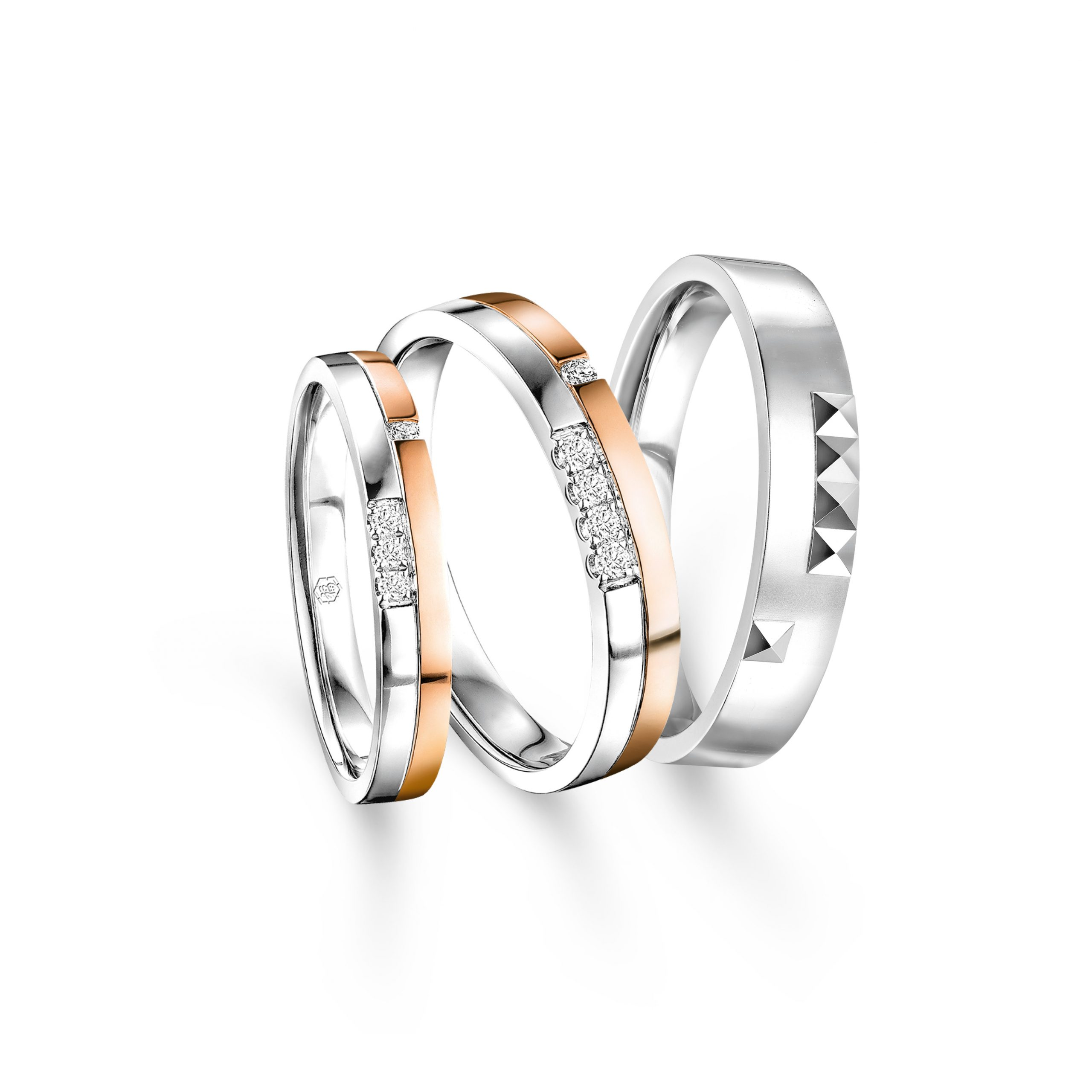 Wedding Collection「一生一世」18K Gold Diamond Wedding Rings