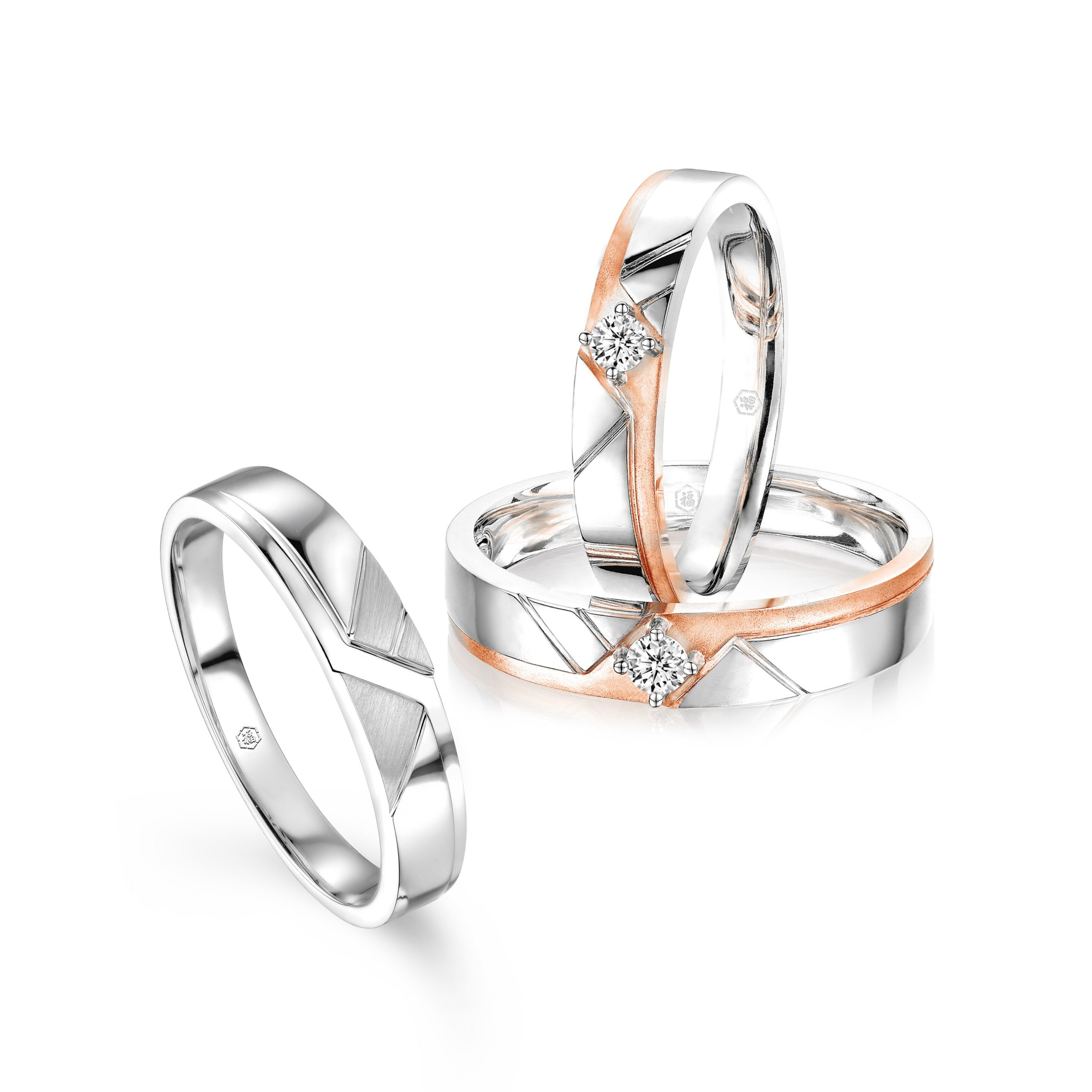 Love Forever Collection 18K Gold Diamond Wedding Rings