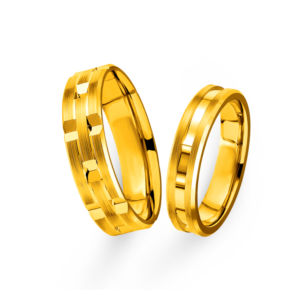 Beloved Collection Gold Wedding Rings