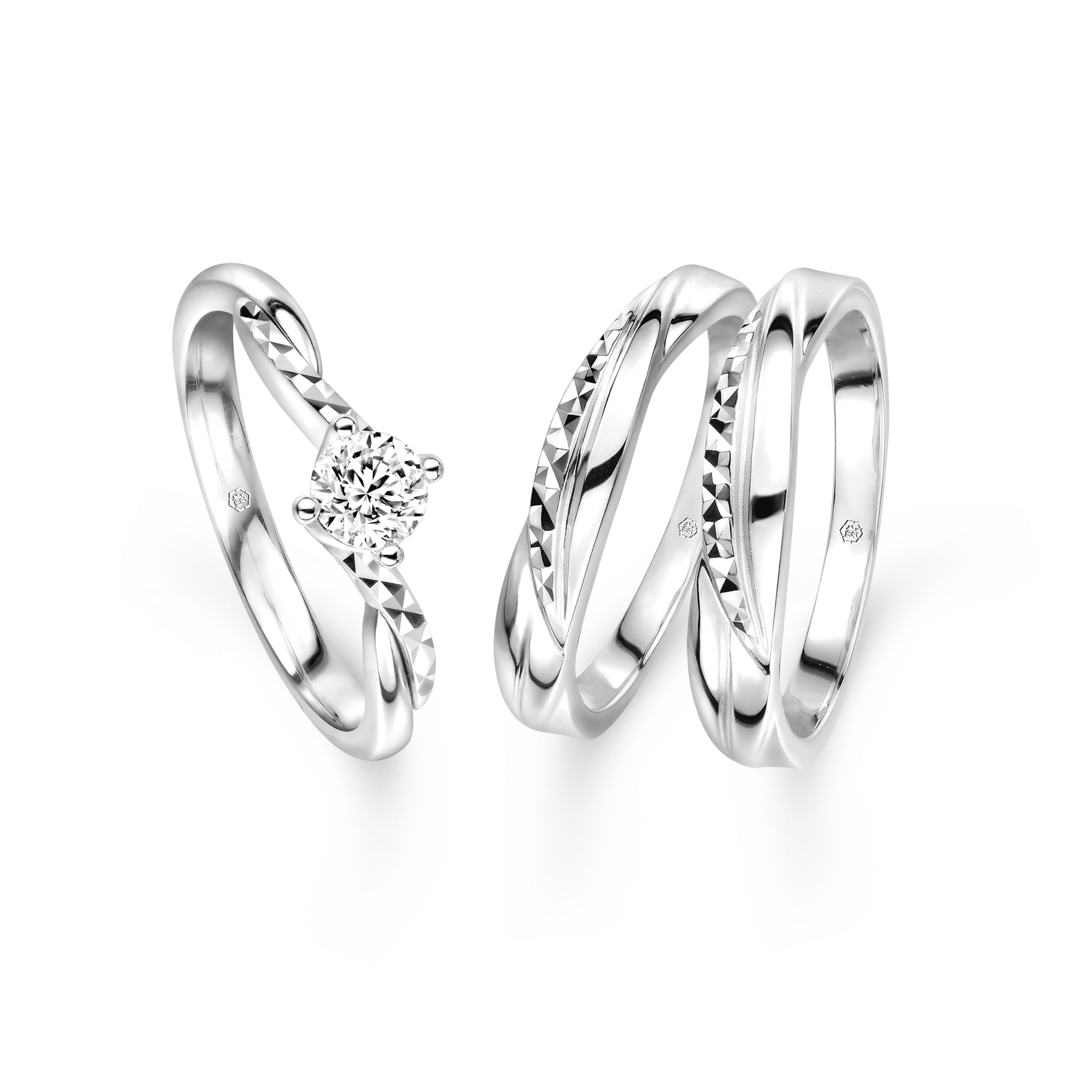 Wedding Collection Platinum & Diamond Engagement and Wedding Rings