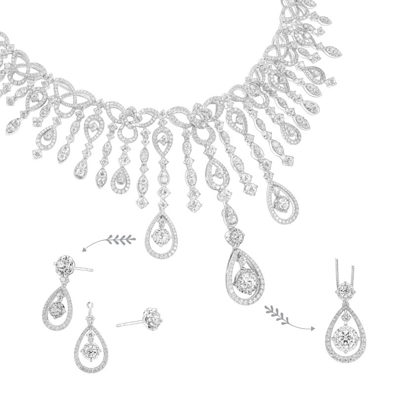 Wedding Collection 18K White Gold Diamond Necklace