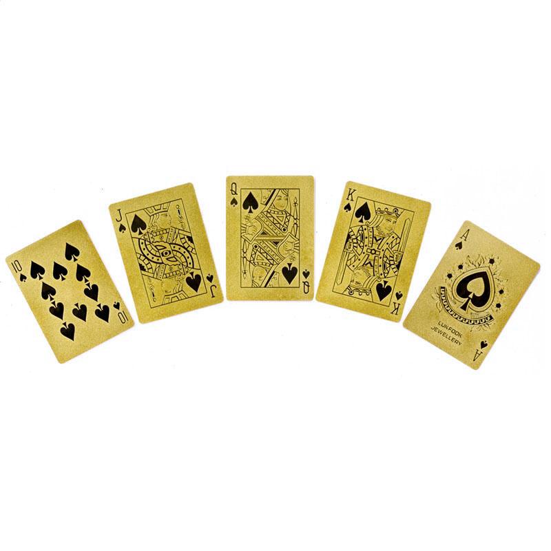 足金扑克牌