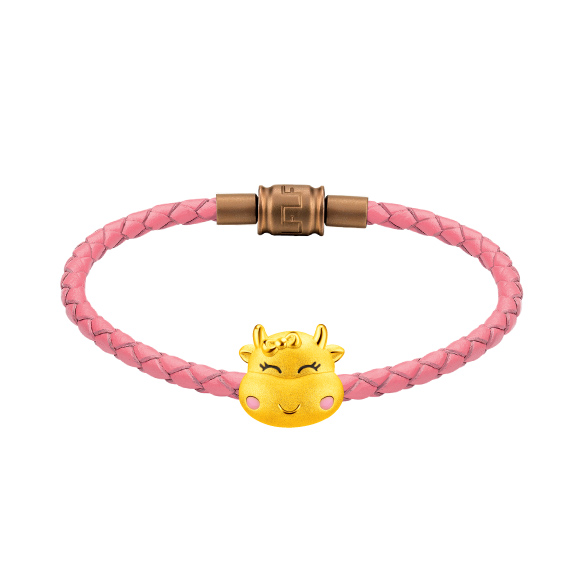 Treasure Ox Collection Cute Gold Ox Charm
