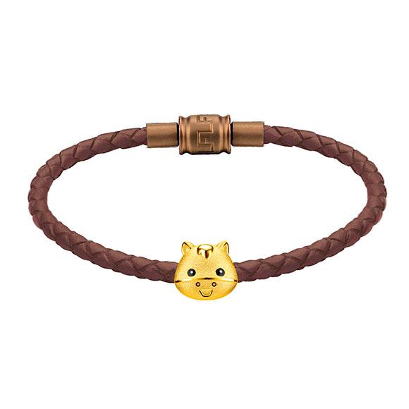 「金牛聚寶」系列十二生肖黃金串飾(馬)