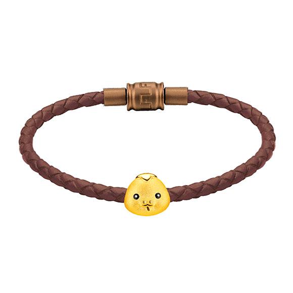 「金牛聚寶」系列十二生肖黃金串飾(蛇)