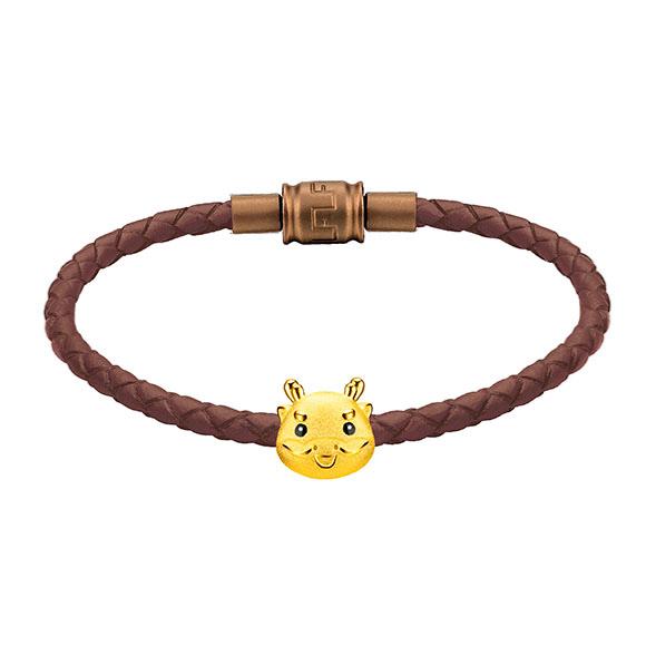 「金牛聚寶」系列十二生肖黃金串飾(龍)