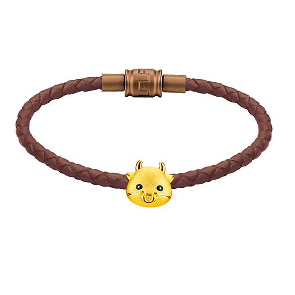 「金牛聚寶」系列十二生肖黃金串飾(牛)