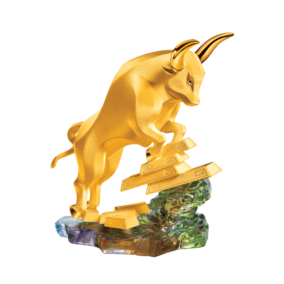 "Treasure Ox Collection ""Joyful Ox"" Gold Figurine"