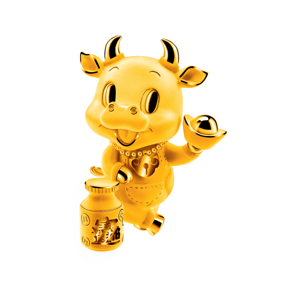 """Treasure Ox Collection""""Wealthy Ox"""" Gold Figurine"""