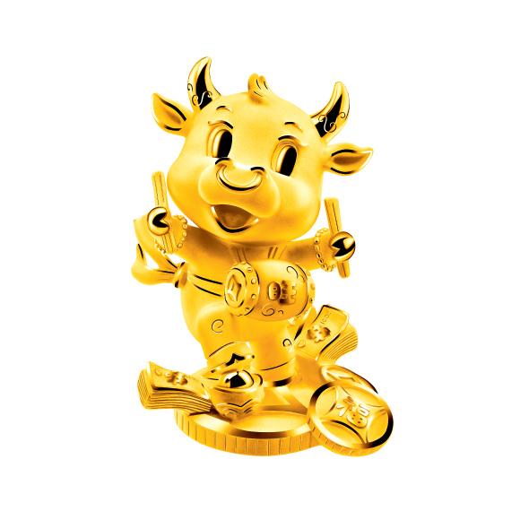 Treasure Ox Collection Prosperous Ox Gold Figurine