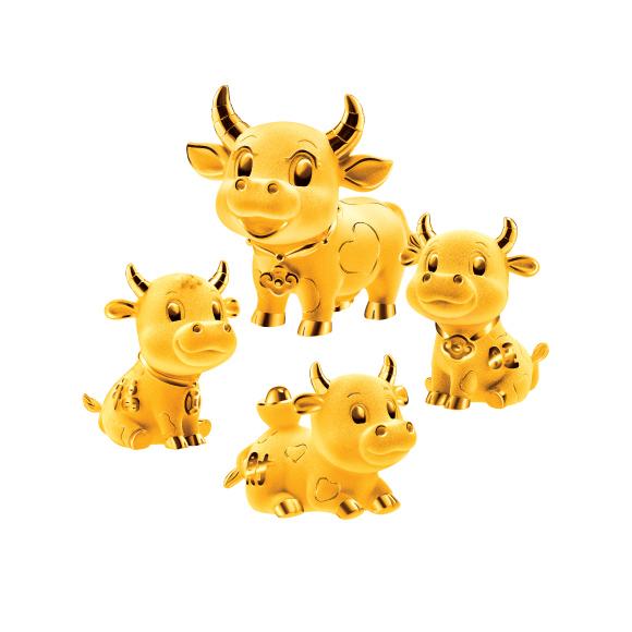 Treasure Ox Collection Fortune Oxen Gold Figurine