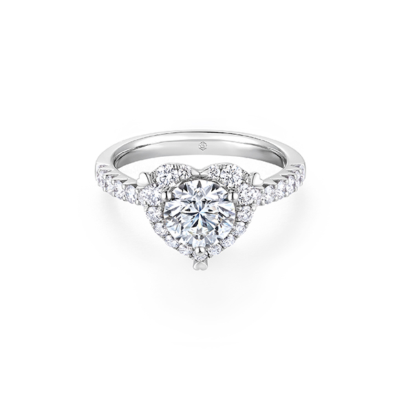 Love is Beauty Collection 18K White Gold Diamond Ring