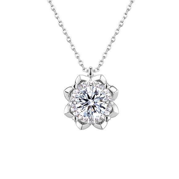 爱很美系列18K金(白色)钻石挂坠