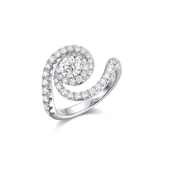 Cassiopea 系列18K金鑽石戒指
