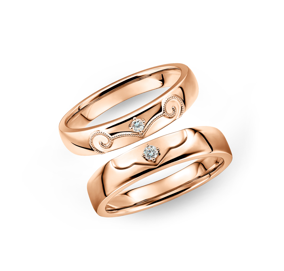 Wedding Collection 18K Gold Diamond Wedding Rings