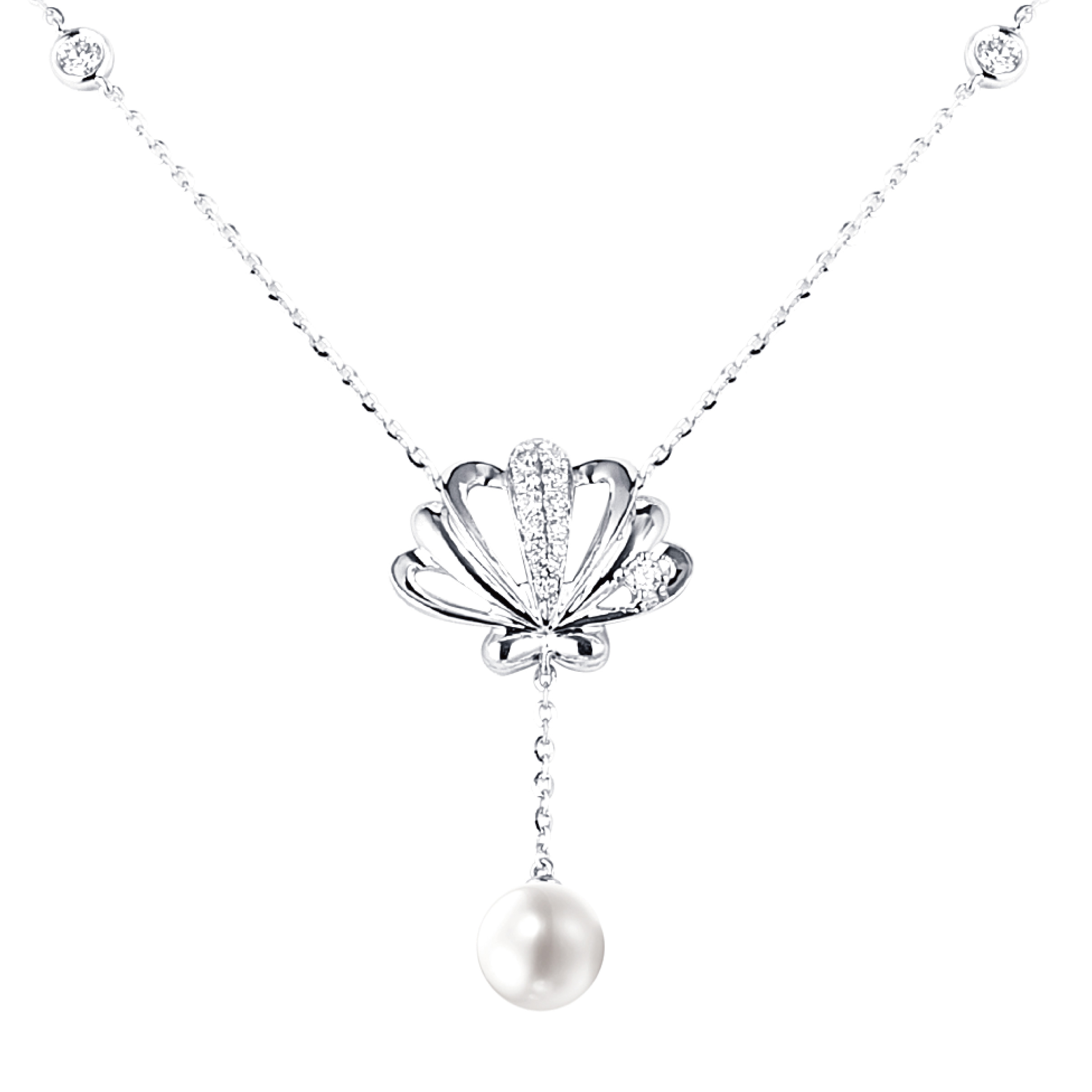 Dear Q Seashell with Pearl Necklace