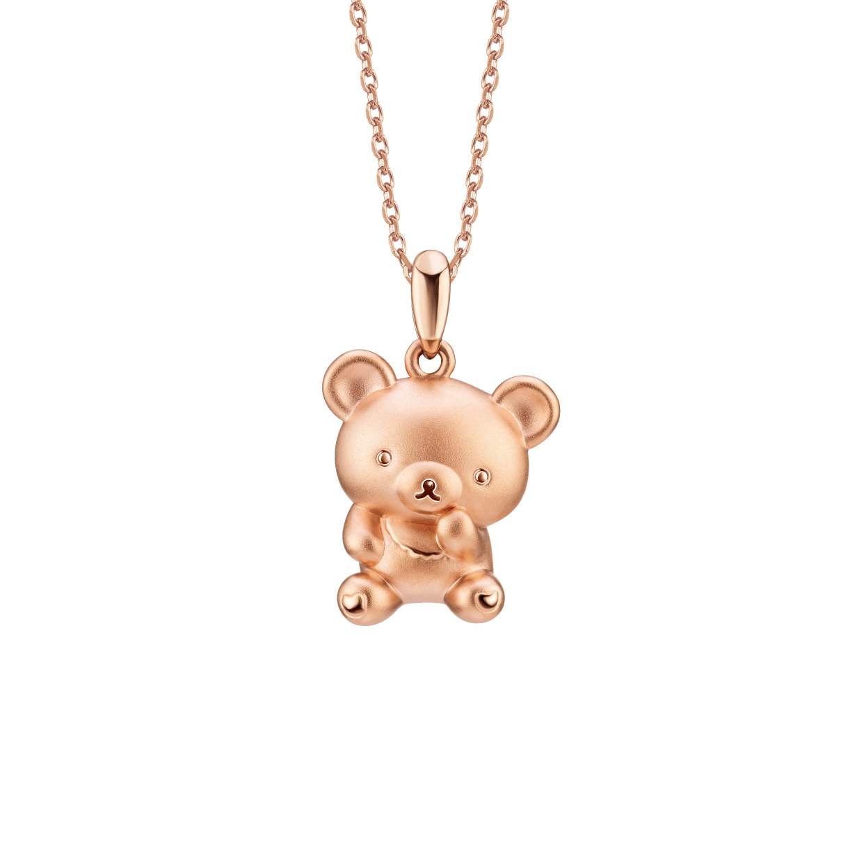 Rilakkuma™ Collection Chairoikoguma Three-dimensional 18K (Red) Gold Pendant
