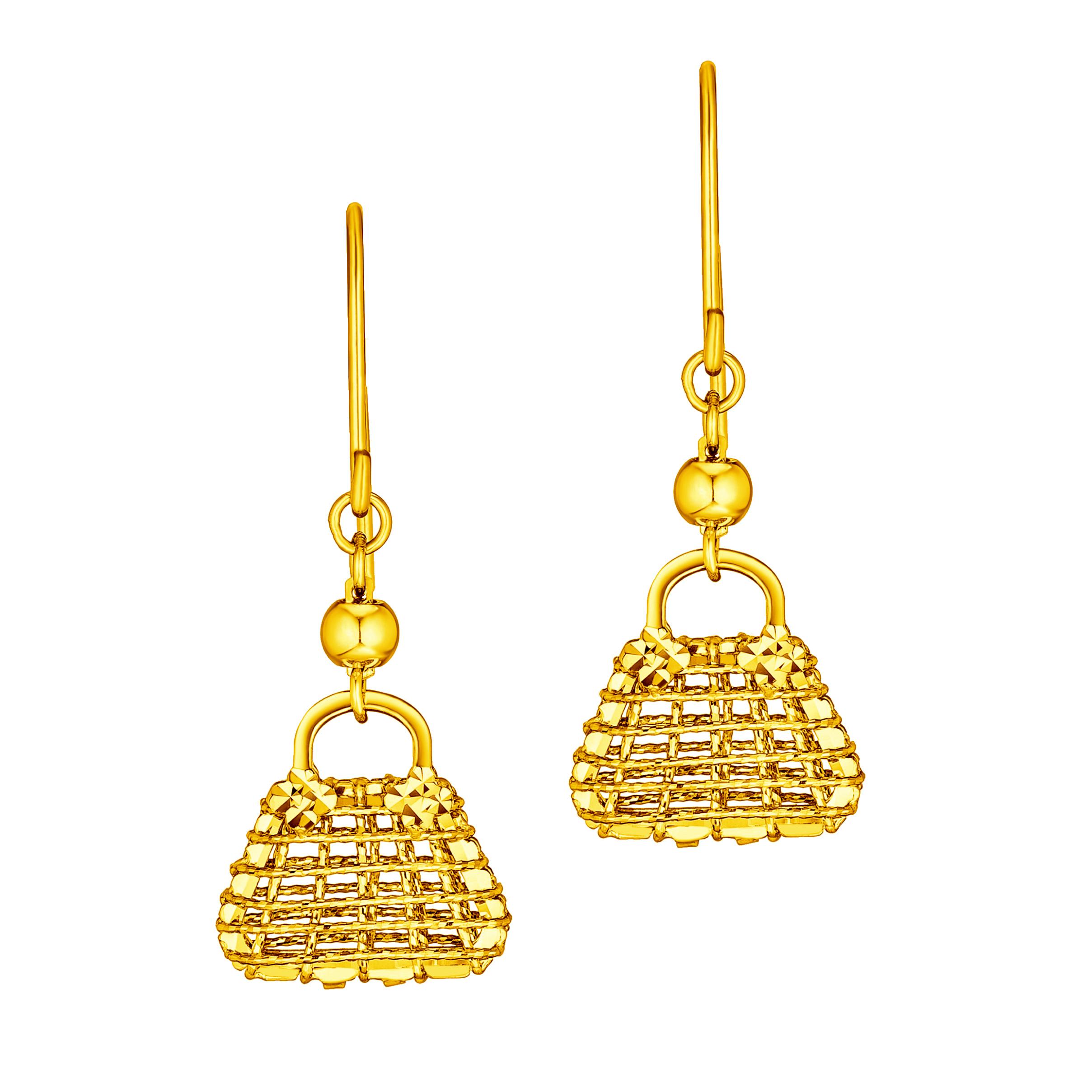 Goldstyle Fashion Handbag Earrings