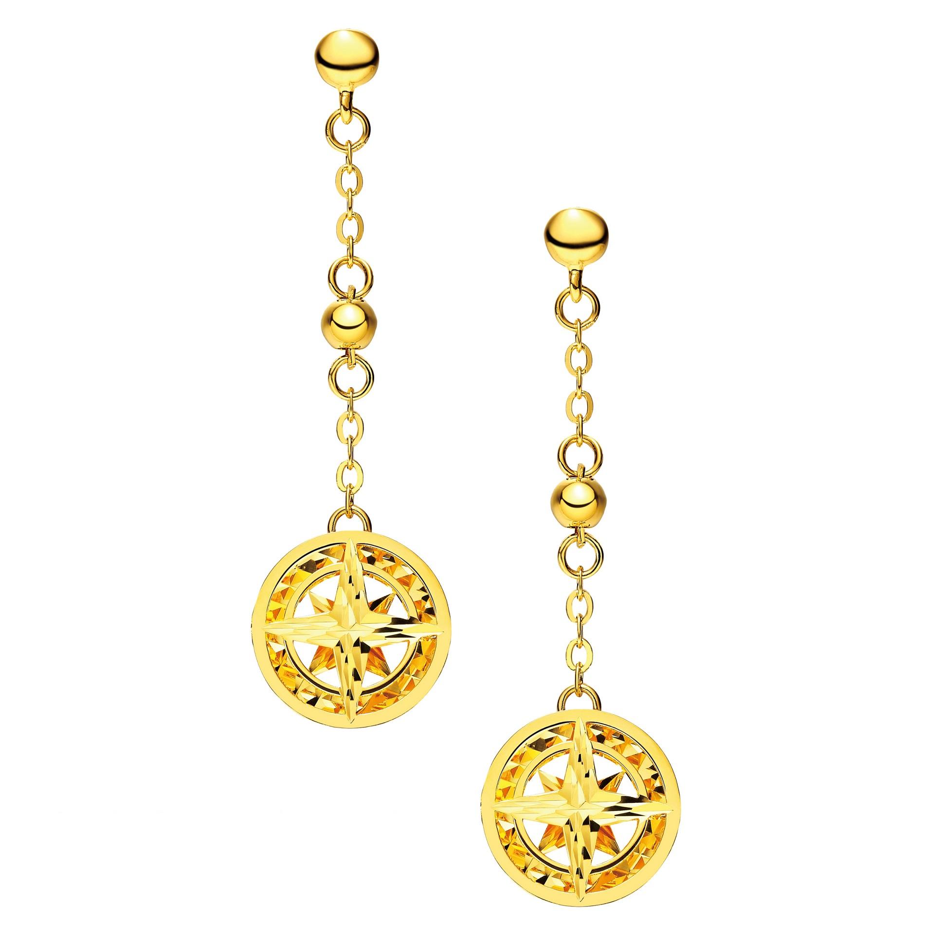 Goldstyle Sparkling Star Earrings