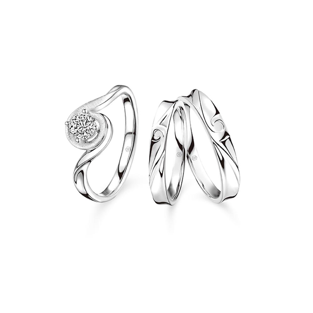 婚嫁系列对戒「你」想配「真愛如絲」套裝戒指