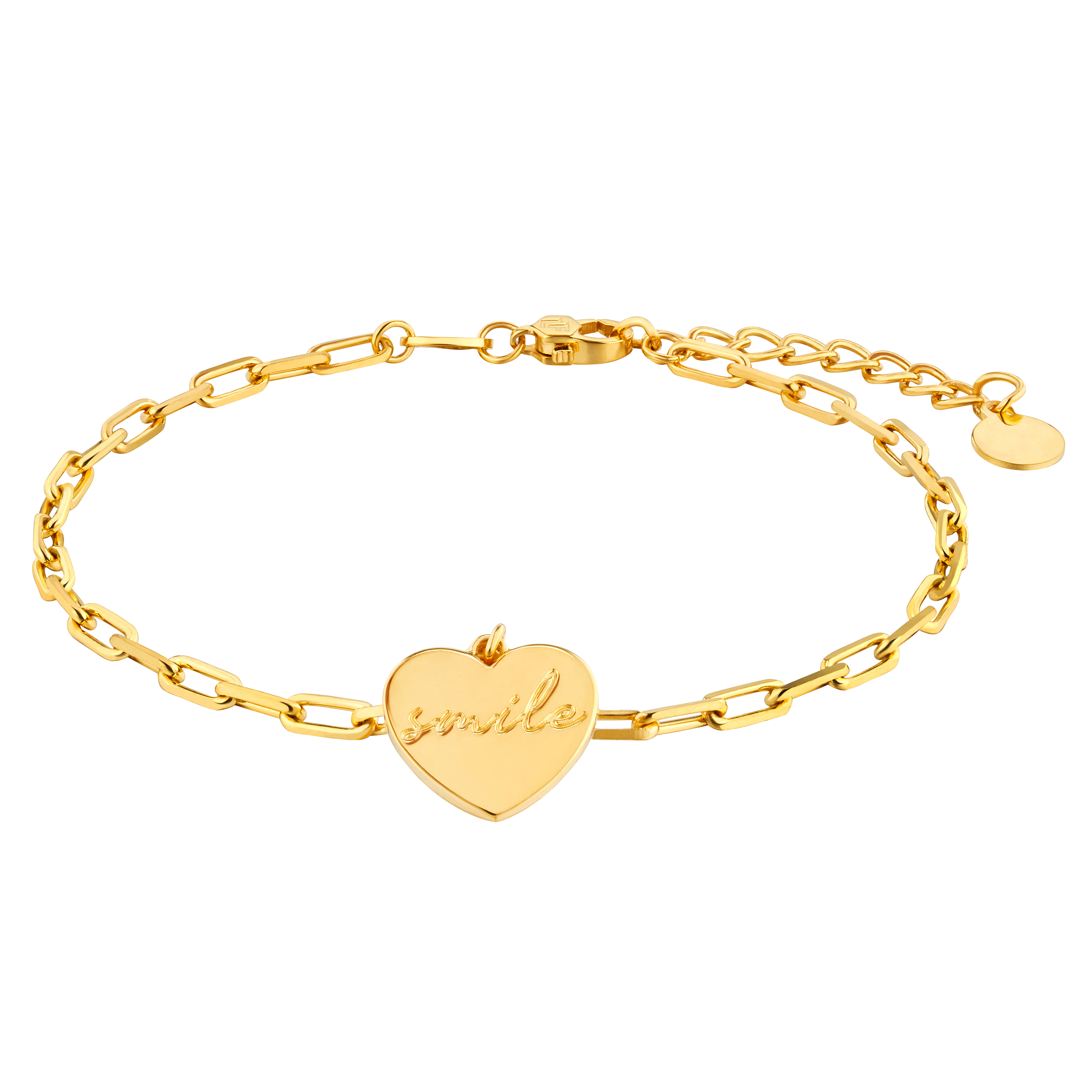 Gold of Light and Shadow Heart-shaped Bracelet
