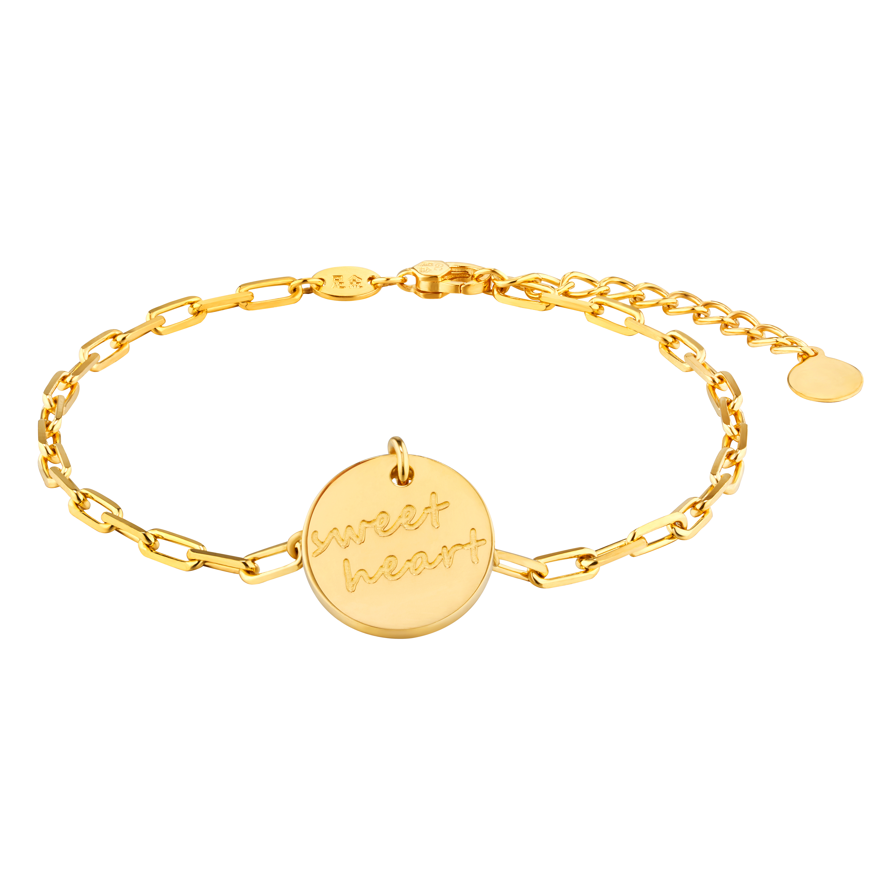 Gold of Light and Shadow Sweet Heart Bracelet