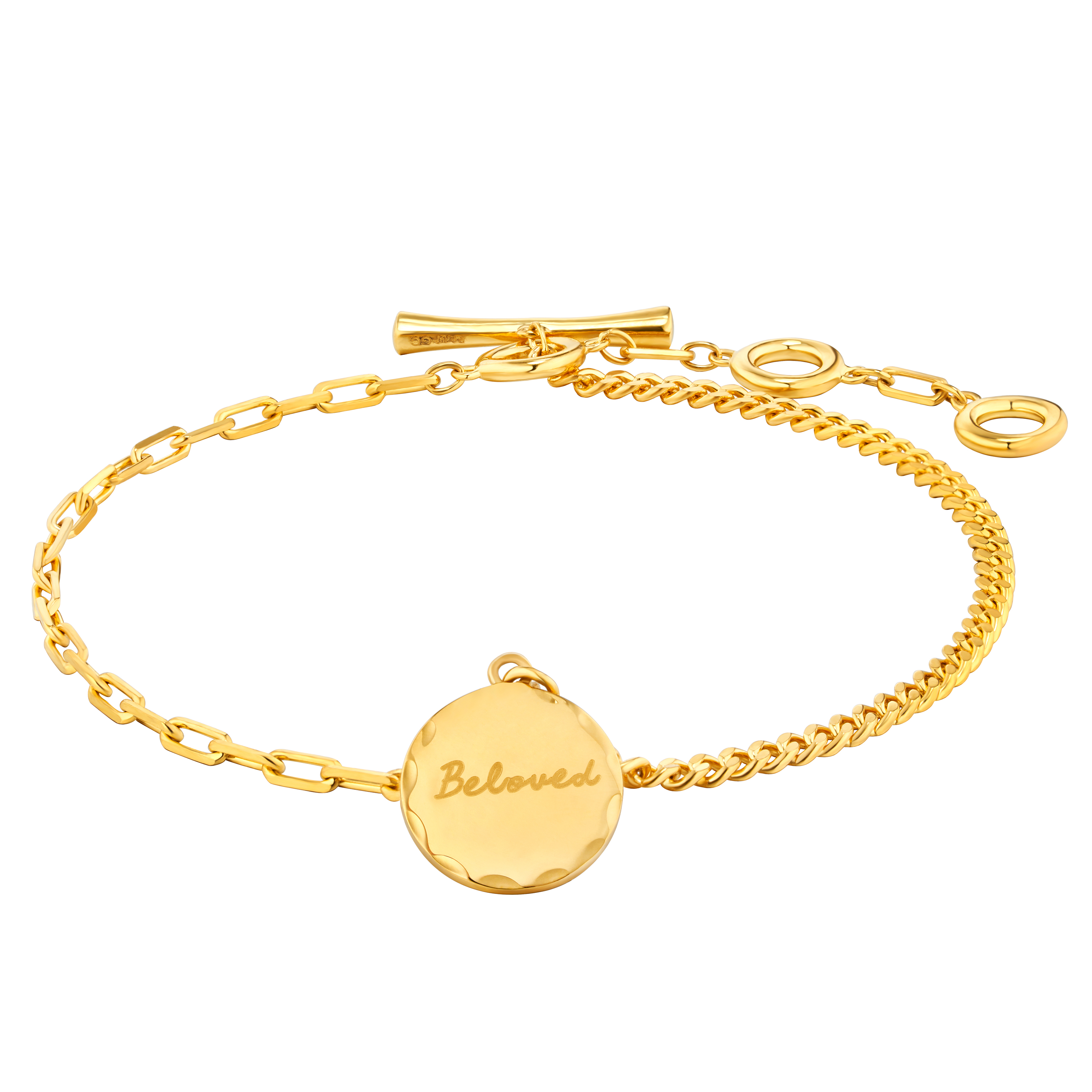 Gold of Light and Shadow Round-shaped Bracelet