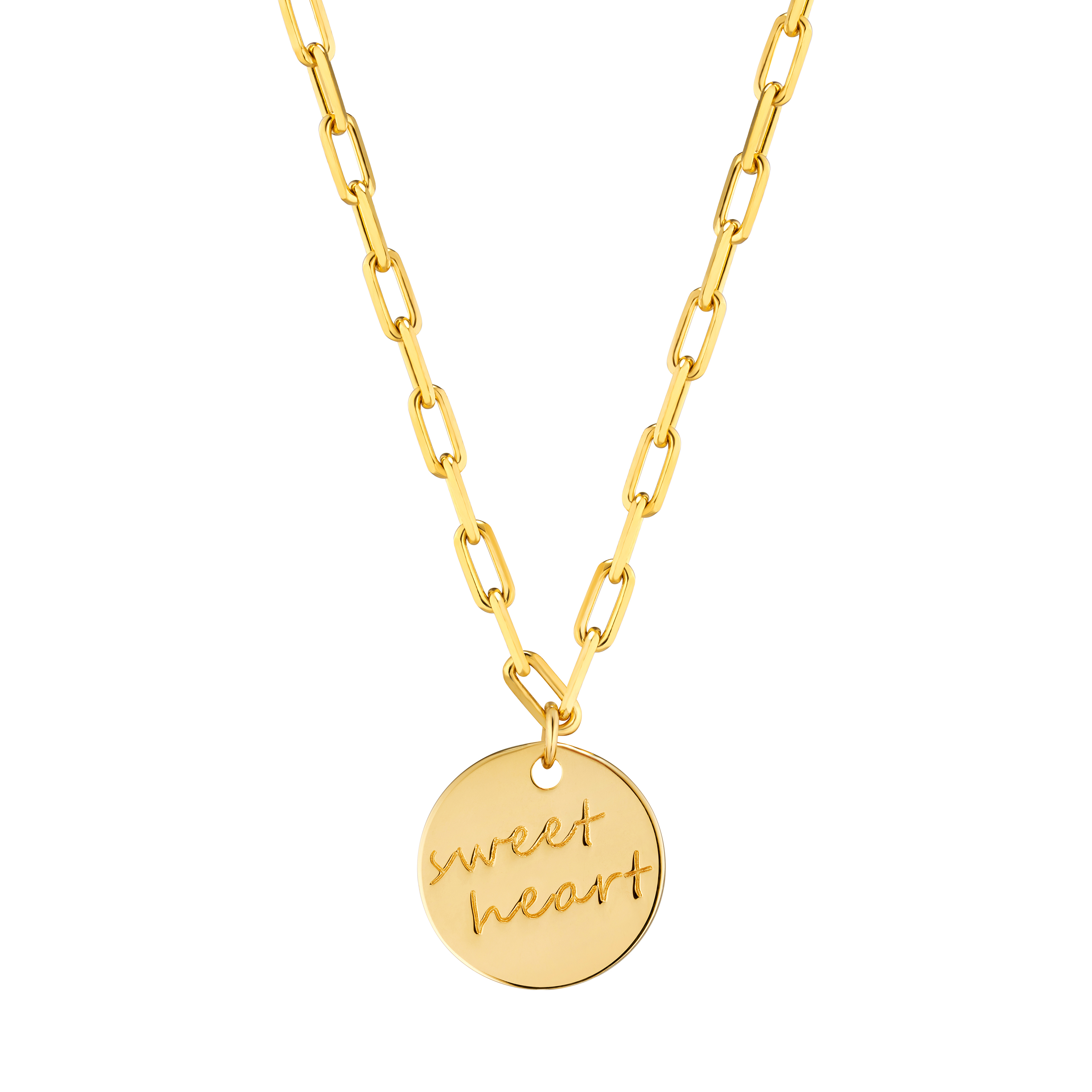 Gold of Light and Shadow Sweet Heart Necklace