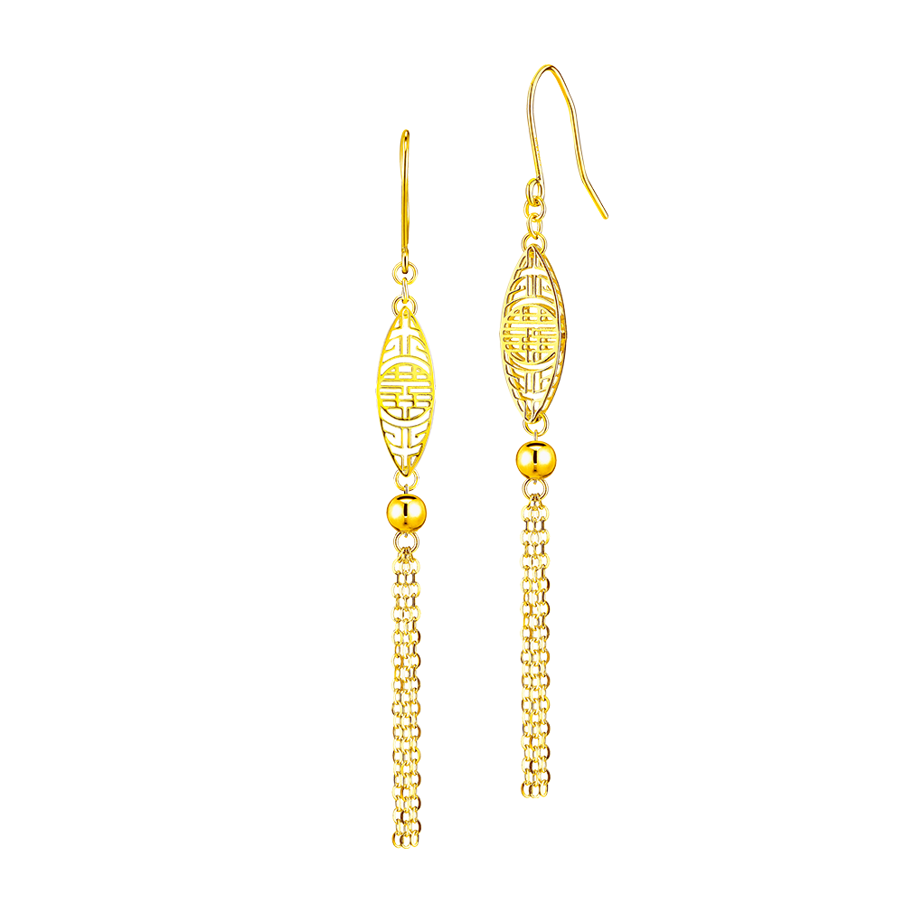 Goldstyle Auspicious Fortune Gold Earrings
