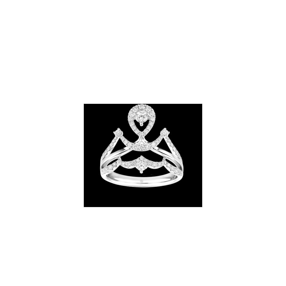 Wedding Collection Romantic Love 18K White Gold Diamond Ring