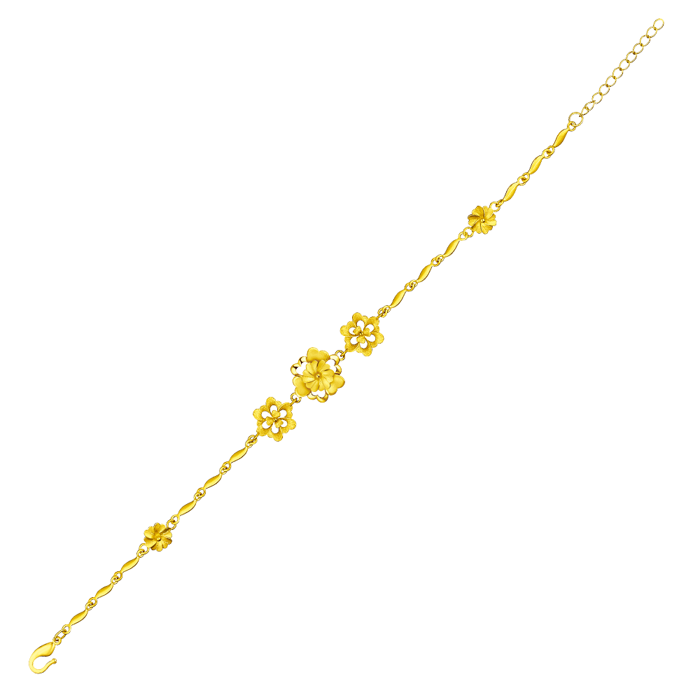 """Beloved Collection """"Love Sentiments"""" Gold Bracelet"""